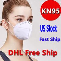 US Stockdhl Бесплатная корабль лица маска для лица 5 слой нетканые одноразовые маски тканевые пылезащитные ветрозащитные респиратор противотуманный пылезащитный