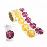 OEM بولي كلوريد الفينيل فنجان القهوة زجاجة التسمية الخاصة الطباعة ملصقا، ملصقات شعار مخصص لحقائب التعبئة والتغليف بالجملة
