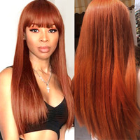 Allove Hair 4 27 4# ginger 27# Straight Human Hair Wigs with...