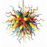 الإبداعي متعدد الألوان الثريات مصابيح غرفة المعيشة مطبخ نوم diy شنقا مصباح الكرة ضوء الشمال مورانو الزجاج الثريا الإضاءة