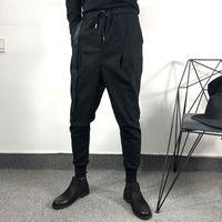 Owen Hombre Hombre Casual Harem Pantalones High Street Wear Longitud Pantalones Ropa de Hombre Sweetpants Black Black