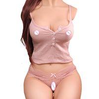 La mitad del cuerpo muñeca del sexo vagina realista Sexdoll completa para los hombres del sexo del silicón de la muñeca de juguete masturbador sexual masculina del amor de las muñecas de gatito de las nalgas T200729