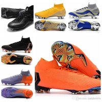 Hommes Mercurial Superfly XII PRO FG 12 CR7 Bottes Football Ronaldo CR7 Neymar 20ème anniversaire 1998-2014 chaussures de soccer Crampons Taille 39-46