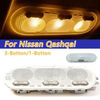 COOYIDOM 3-Botton Car Interior Dome Light Reading Lampada da soffitto Per Qashqai Soleggiato Micra / marciare Dacia
