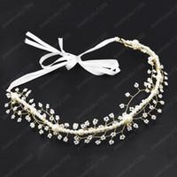 Pequena flor casamento acessórios de cabelo headband pérola acrílico videira de videira hairbands coroa headpiece jóias de casamento das mulheres da noiva