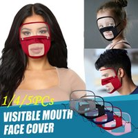 Escudo olho visível face Boca tampa removível Anti Poeira reutilizável lavável transparente Lip Idioma Máscara Deaf Mute face CYZ2522 Máscara