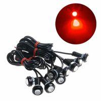 18mm وعين النسر أضواء LED الأحمر 9W الوردي النهار تشغيل اكسسوارات السيارات الخفيفة للدراجات النارية DRL السيارات علامة ضوء مصباح الضباب ضوء النسخ الاحتياطي