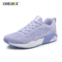 ONEMIX Homens Sneakers Light Weight respirável Lace-up macho adulto Outdoor Training Casual Athletic Correndo Jogging Shoes Tamanho 39-45