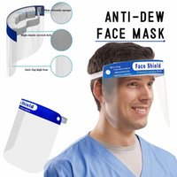 Armazém US Sponge Headband face escudo anti-fog Adulto Crianças elástico face máscara protetora HD Transparente PET Anti cobrir o rosto do respingo