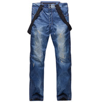 Winter Denim Ski Pants Men' S Single Board Double Board ...