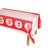 PE jetable en plastique Tablecover Décorations de Noël Arbre Bonhomme de neige Père Noël Nappe rectangulaire Cuisine Table à manger Couvre DH0297