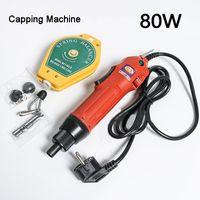 80W portátil Hand Held Garrafa elétrica Garrafa Capping Máquina Automático de Segurança anel de plástico Capper Ferramenta tampando