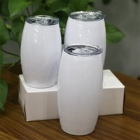 التسامي 25oz كرة القدم البهلوان الفولاذ المقاوم للصدأ البهلوان بيضاء فارغة كأس مع زجاجة سترو عزل المياه مع ختم غطاء A02