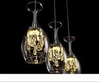 Modern Kristal Şarap Gözlük Bar Avize Tavan Işık Sarkıt LED Aydınlatma Oda Salon Aydınlatma Fikstürü Yemek Lambası LED Asma