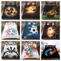 Hot Style Bedding Set 3d digitale calcio calcio Stampa 2 / 3pcs Copripiumino Federe Set con chiusura a cerniera Dimensioni UK / AU / US