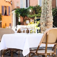 Rectángulo blanco Paño de la mesa de poliéster para decoración de bodas Hotel banquete mesa cubierta fiesta casa comedor al por mayor muchos colores disponibles