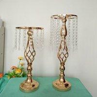 Titolare strass Candelabro Candeliere di cristallo di candela centrotavola Vaso Stand Casa Romantico Candeliere a nozze