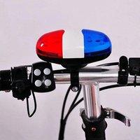 LED ISHOWTIENDA Ciclismo Luce Telaio Batteria 6 della bicicletta + 4 forte sirena suoni la tromba in bicicletta Corno polizia della Bell anteriore