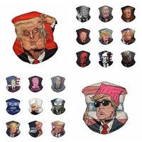 Maske Trump Gesicht Waschbar amerikanische Wahl Printing Staubdichtes Maske Outdoor Radfahren Hals Magie einen.Kreislauf.durchmachenschal Partei-Schablone 20styles RRA3318