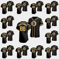 David Pastrňák Boston Bruins 2020 Hockey X Baseball Crossover Jersey Torey Krug Charlie Coyle John Moore Tuukka Rask Kevan Miller