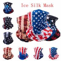 Máscaras bandeira americana Sports Magia lenço de cabeça banda Neck Warmer Outdoor Ciclismo da bicicleta da bicicleta cara equitação máscara de cabeça de cachecol IIA129