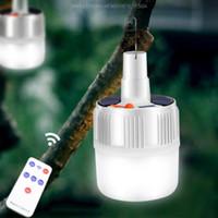 100W 캠핑 빛 태양 충전식 라이트 LED 전구 휴대용 충전 비상 배터리 LED 램프 홈 야시장 야외 Graden의