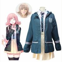 Super Danganronpa 2 Dangan Ronpa Cosplay Chiaki Nanami Uniforme Jacket Coat Jupe De Chemise Pour Femmes Cosplay Costume Wig