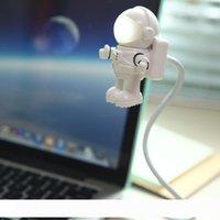 크리 에이 티브 우주 비행사 spaceman usb LED 조정 가능한 야간 조명 컴퓨터 PC 유연한 램프 LEG_73M