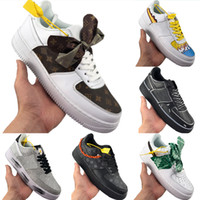 2020 AF1 Low Cut Bow Scarf Skate Sneaker Originals Sup União AF1 Low-Top Bow antiderrapante de borracha Built-in Zoom Air Sports Shoes