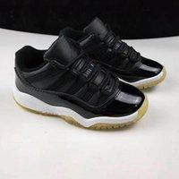 Комфортные Детская спортивная обувь Детская Мальчики Баскетбол обувь для детей Спортивная обувь 11 Легенда Синий Малыши белый размер 28-35 с коробкой
