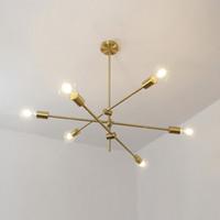 Usine Moderne Moderne Design Lampadaire Lampe Lampe en laiton Multi-tête Lustre Salon Salon Chambre à manger Chambre à coucher à coucher de plafond