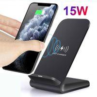 Support de chargeur sans fil de 15W Qi pour iPhone SE2 XS MAX XR 11 PRO 8 Samsung S20 S10 S9 Chargeur de téléphone de la station d'accueil rapide