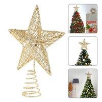 Decoraciones navideñas 1pc 20cm árbol topper estrella exquisito hierro arte ornamento hermoso cinco para