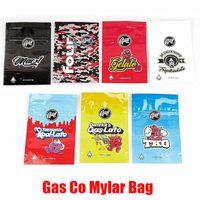 Kuru ot Tütün Çiçek Kaliforniya Gaz Co In senedi için Gasco Mylar Çanta Perakende Paketi 7 Seçenekler Fermuar Bag 3.5g 1 / 8oz Depolama Paketleme