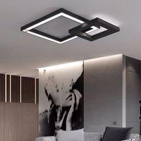 실내 조명 현대 천장 조명 식당 LED 램프 헤드 라이트 바 침실 거실 샹들리에 RGB 색상 블랙, 화이트