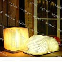 مصباح طاولة قابلة للطي كتاب مصباح التصميم الإبداعي قابلة للشحن LED الليل 360 درجة القراءة مصابيح الديكور المنزلي الإضاءة EPACKET