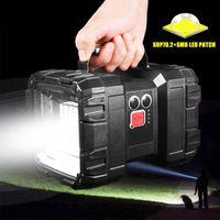 휴대용 탐조등 USB 충전식 슈퍼 밝은 batteri XHP70.2 LED 방수 전원 기능 캠핑 작업 등