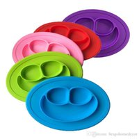 Baby Silicone Bowls Dishes Plates Children Food Grade Silicone Non Slip Cute Bowl Kid Baby One Piece Dish Dining Mat 7 Colors DBC BH3089