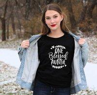 T-shirt das mulheres uma camisa abençoada tia futura t verão elegante tia a camisas roupas