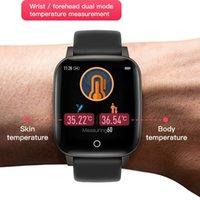 درجة الحرارة المرأة الذكية ووتش رجال الهيئة قياس معدل ضربات القلب للياقة البدنية المقتفي ووتش رجال ساعة ذكية للحصول على الروبوت IOS الهاتف