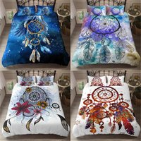 Piumino moderno 3D Blue Copertura federa Dream catcher Size Bedding Set morbida microfibra Re Regina Singolo Home Textile