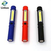 COB magnetico LED Mini multifunzione Pen ha condotto la torcia chiara del lavoro pannocchia gestire il lavoro a mano torcia USO 3 *