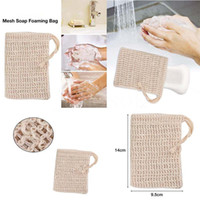 Natural Exfoliating Mesh Soap Saver Sisal Soap Saver Bag Pou...