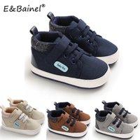 Zapatos EBainel bebé de lona clásicos de los deportes zapatillas de deporte suave suela antideslizante zapatos del niño recién nacido para el muchacho de Prewalker primeros caminante
