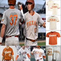 Custom Texas Longhorns Baseball Stitched Jersey Personalizzato Qualsiasi Nome Numero Lance Ford Eric Kennedy Michael McCann Peter Geib