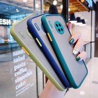 Stoßfest Hülle für Huawei P40 PRONE P30 P20 Mate30 Mate20 Ehre 30s Cover Candy Color Soft TPU Stoßfänger Matte Clear PC Back Cover