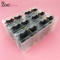 3d vizon kirpikler toptan satıcı 30 pairs dramatik yanlış kirpik makyaj zoelove lash kutuları ambalaj 25mm vizon kirpik toplu