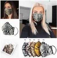 الولايات المتحدة STOCK أزياء ليوبارد طباعة أقنعة الوجه قناع مصمم قابل للغسل الغبار التنفس ركوب الدراجات الرياضة في الهواء الطلق طباعة أقنعة الفم