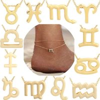 Constellation Anklets Zodiac Sign Horoscope Pendant Jewelry ...