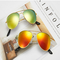 Children Colorful Reflective Yurt Kids Sunglasses Gafas De S...